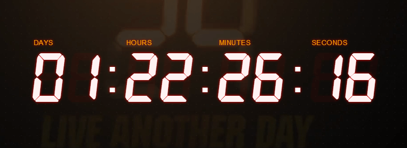 Countdown to '24: Live Another Day' on FOX website