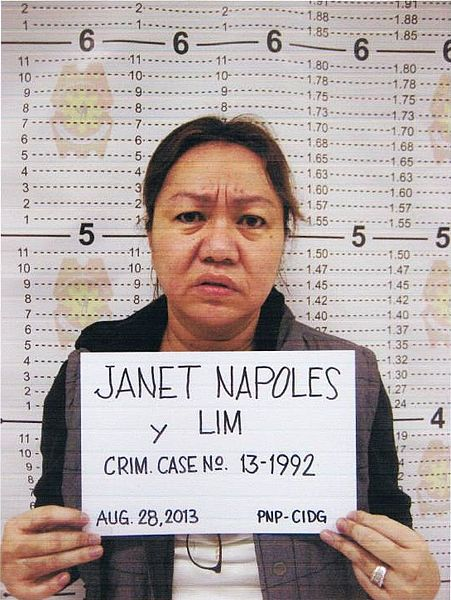 Alleged pork barrel scam mastermind: businesswoman Janet Lim Napoles. PNP Photo