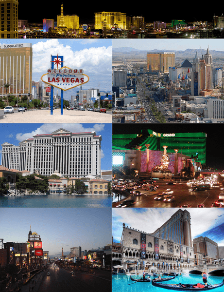 Composite of the Las Vegas Strip (Wikipedia photo)