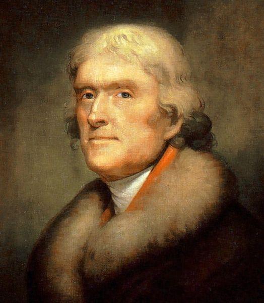 President Thomas Jefferson (Wikipedia photo)