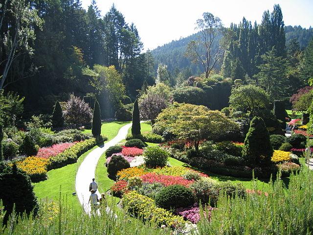 The Sunken Garden in Victoria's exquisitely beautiful Butchart Gardens. (Wikipedia photo)
