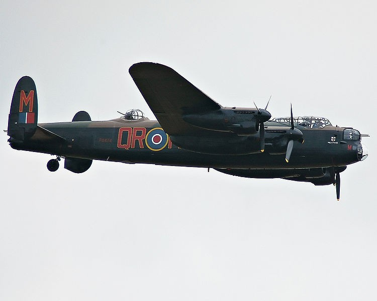 Royal Air Force Avro Lancaster B I PA474 of the Battle of Britain Memorial Flight. (Wikipedia photo)