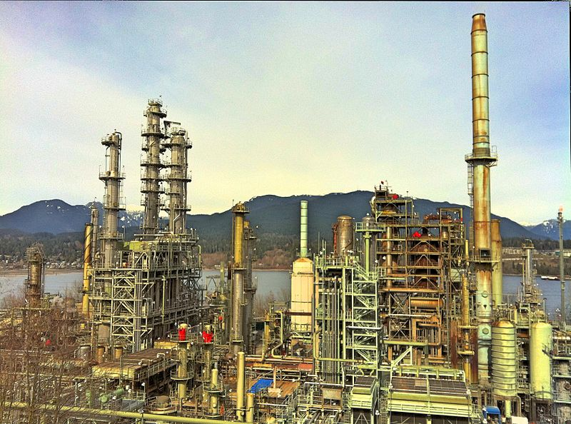 The Chevron oil refinery in Burnaby, B.C., Canada. Photo by  Kyle Pearce / Flickr.