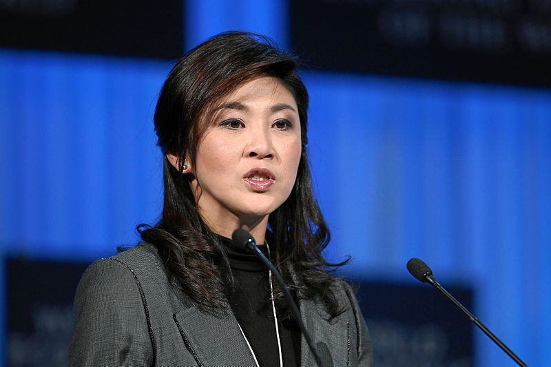 Yingluck Shinawatra, Prime Minister of Thailand is captured during the session 'Women as the Way Forward' at the Annual Meeting 2012 of the World Economic Forum at the congress centre in Davos, Switzerland. Photo copyright by World Economic Forum / Wikimedia Commons.