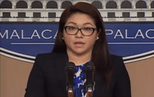 Presidential spokesperson Abigail Valte. Screenshot of PCCO EDP press briefing video.
