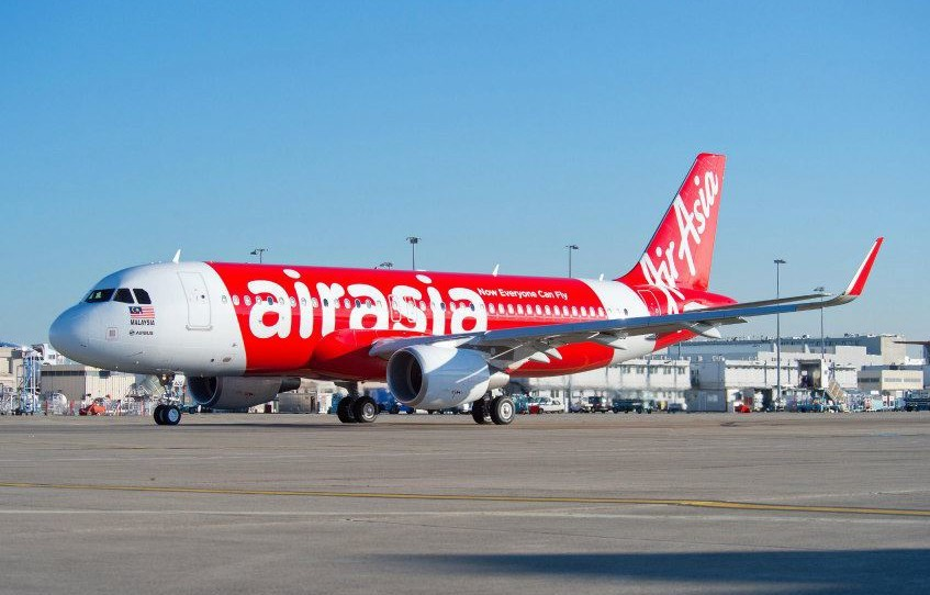 AirAsia's Airbus A320 plane is the world's first Airbus with 'sharklet' wing tips. Photo from AirAsia Facebook page.