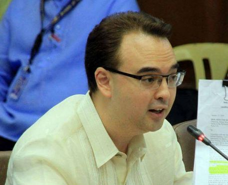 Senate Majority Floor Leader Alan Peter Cayetano. Photo courtesy of Cayetano's Facebook page.