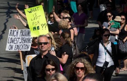 BC Teachers' Strike / Twitter photo