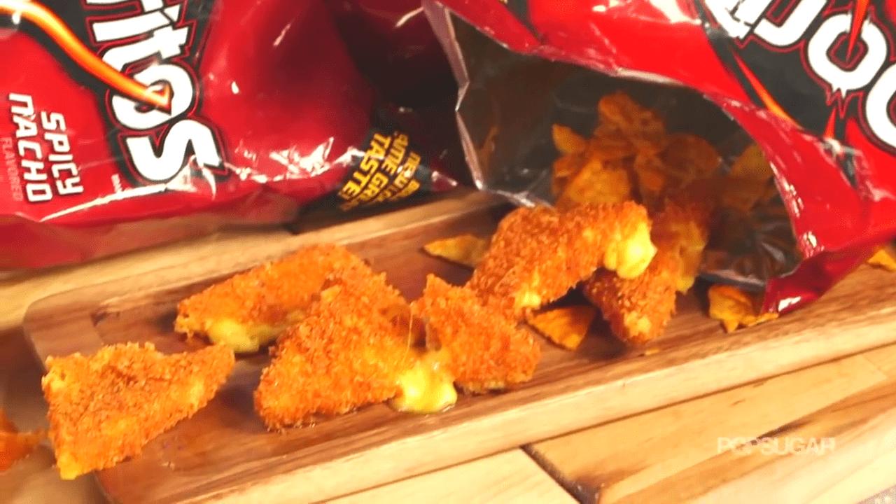 SCREENSHOT FROM POPSUGAR VIDEO: Cheese-Stuffed Doritos