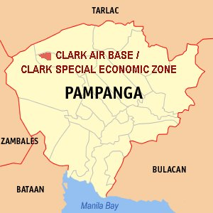 Map of Clark, Pampanga / Wikipedia Photo