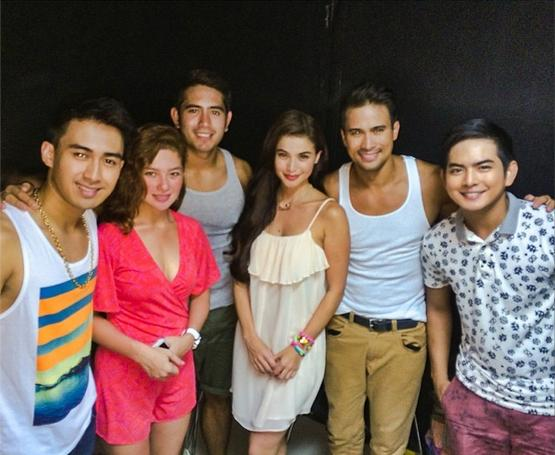 Dyesebel Summer sa Trinoma_Young JV, Andi Eigenmann, Gerald Anderson, Anne Curtis, Sam Milby and Neil Coleta (photo from Anne's official Instagram account)
