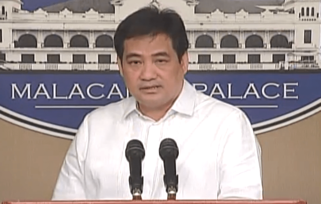 Presidential Spokesperson Edwin Lacierda. Screenshot from May 14 press briefing.