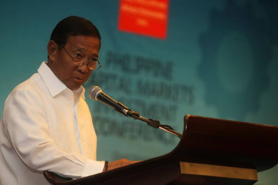"""Vice President Jejomar """"Jojo"""" Binay. (Photo from Binay's official Facebook page)"""