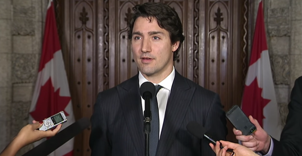 Justin Pierre James Trudeau,  leader of the Liberal Party of Canada. Screenshot from The National video.
