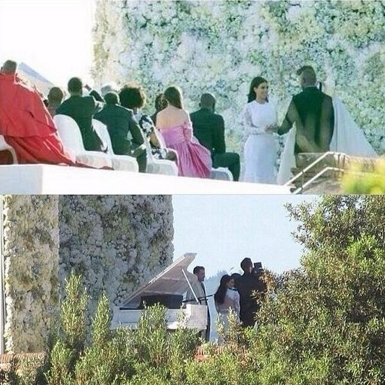 Kim and Kanye tie the knot in Florence. Photo courtesy of @kardashsjenners / Twitter