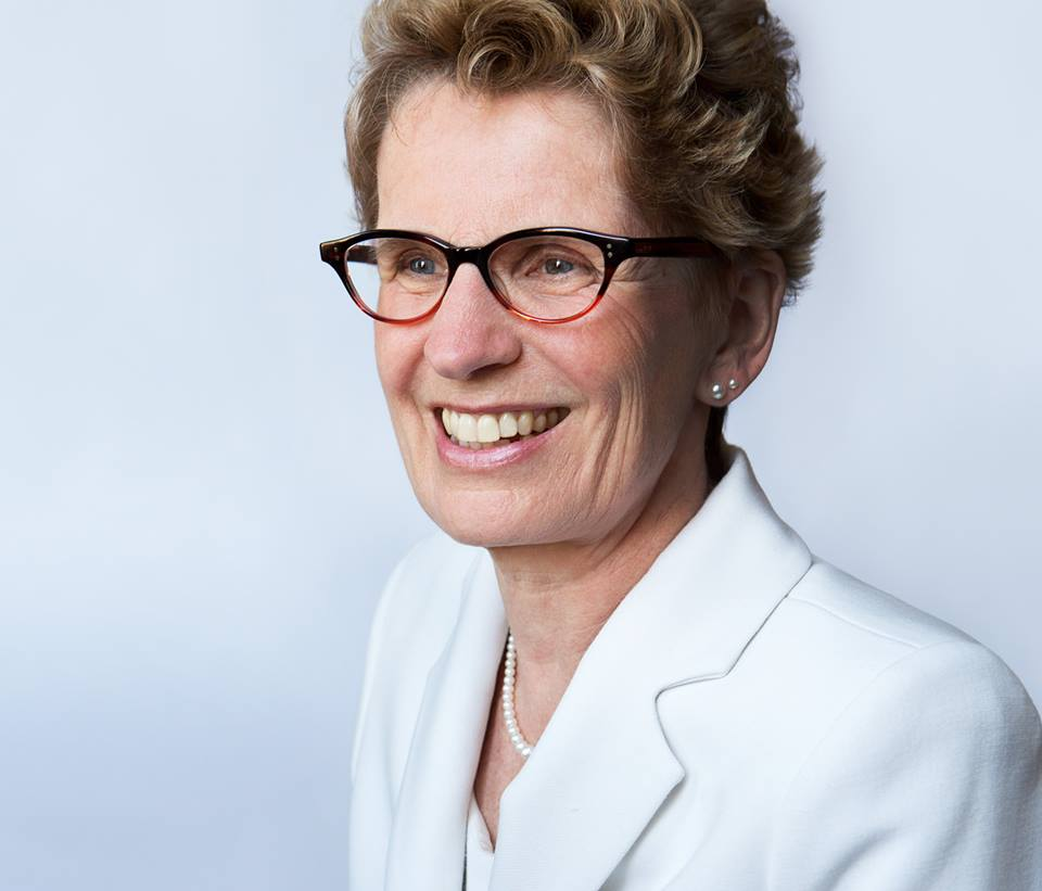 Leader of the Ontario Liberal Party and Premier of Ontario. Photo courtesy of Wynne's official Facebook page.