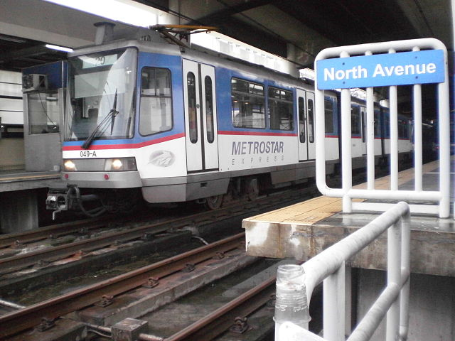 MRT-3, North Avenue Station (Photo from Wikipedia)