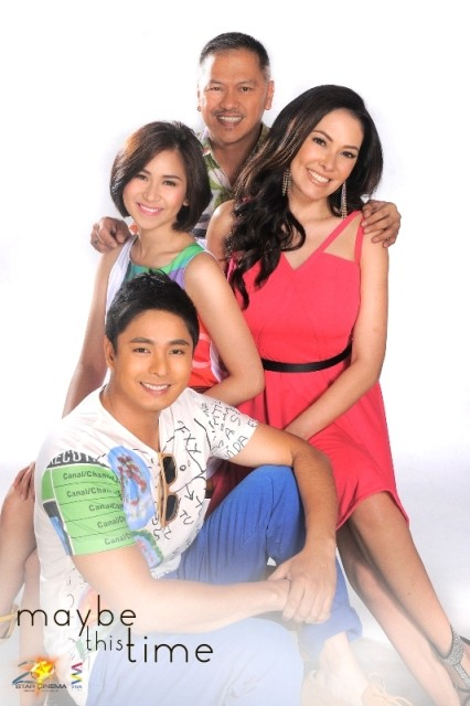 """Coco Martin, Sarah Geronimo, and Ms. Ruffa Gutierrez in """"Maybe This Time"""""""