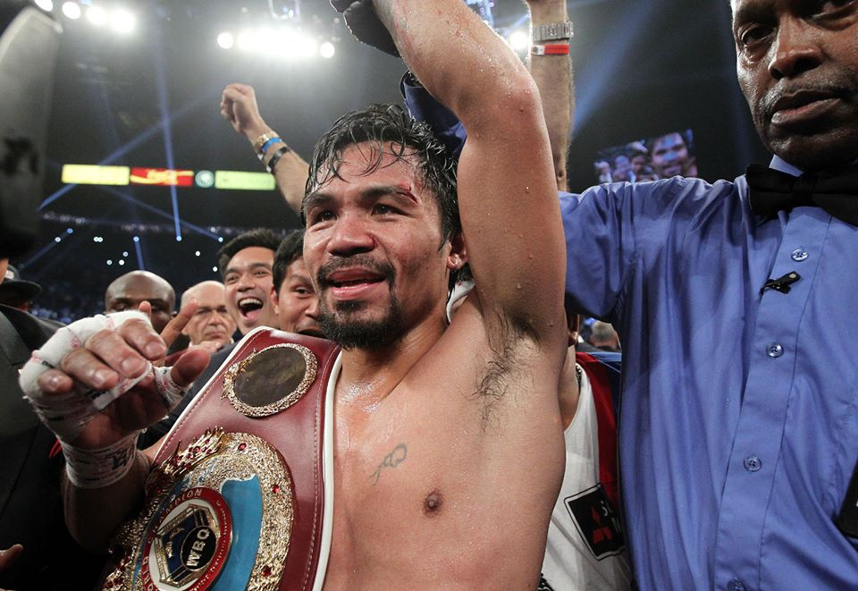 Manny 'Pacman' Pacquiao. Photo by Tracy Lee / Manny Pacquiao official Facebook page