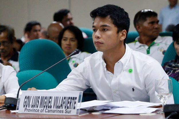 Camarines Sur Governor Luis Miguel Villafuerte. Facebook photo
