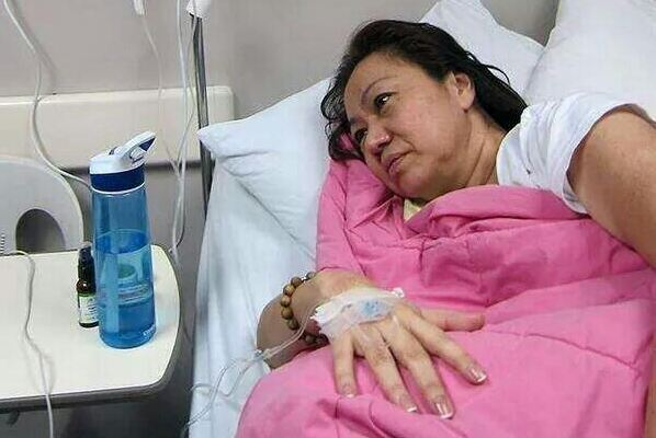 Alleged PDAF scam mastermind Janet Lim-Napoles stays in Ospital ng Makati due to bleeding. Photo courtesy of Raffy Magno / Twitter