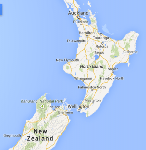Map of New Zealand, Photo courtesy of Google Maps