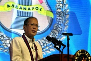 President Benigno S. Aquino III delivers his speech during the 34th Association of Southeast Asian Nations Chiefs of Police (ASEANAPOL) Conference at the Sofitel Philippine Plaza in Roxas Boulevard, Pasay City on Tuesday (May 13). (Photo by Gil Nartea / Malacañang Photo Bureau / PCOO)