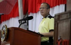 President Benigno S. Aquino III delivers his speech during his visit to Integrated Micro-Electronics, Inc. at the Laguna Technopark, Biñan City, Laguna on Thursday (May 1). (Photo by Lauro Montillano / /Malacañang Photo Bureau)