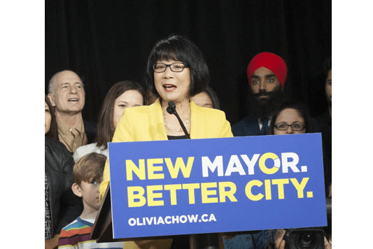 Toronto Mayoral candidate Olivia Chow. Photo from Wikipedia