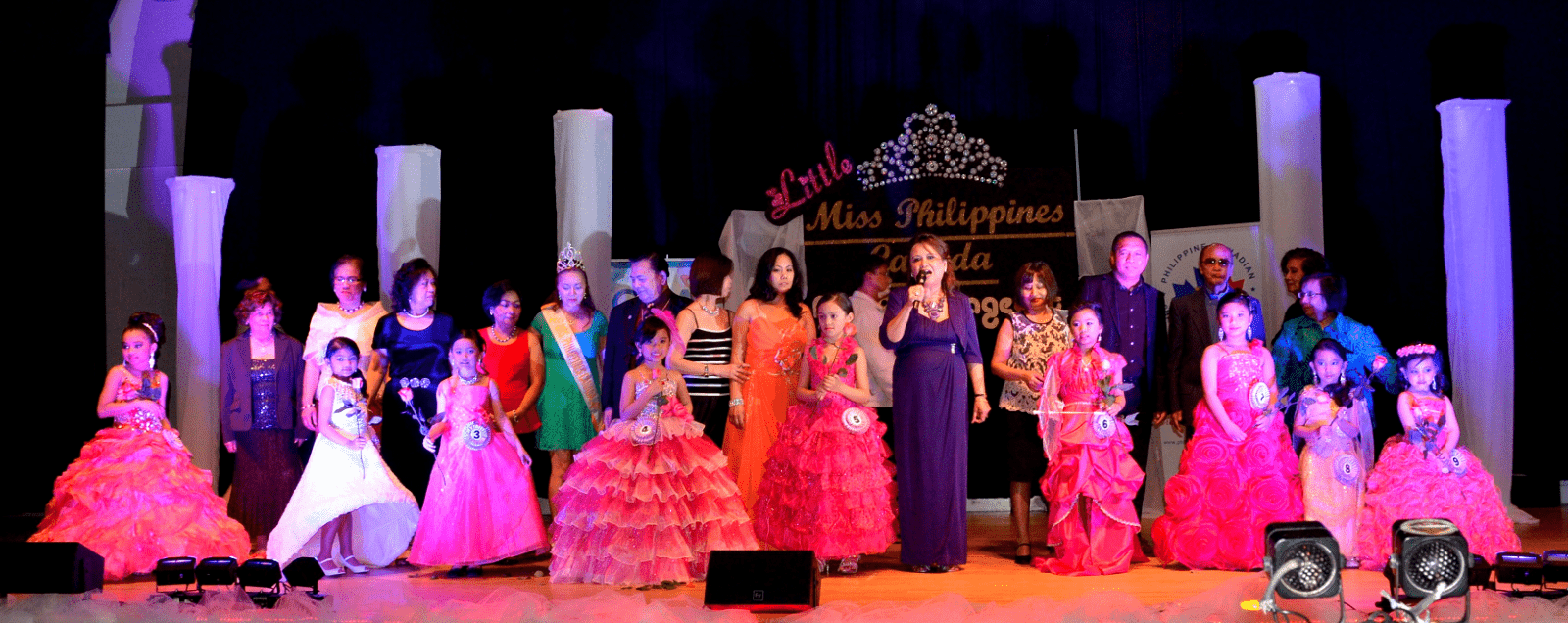Miss Philippines Canada candidates joined by PCCF Officers and Senator Jun Enverga.
