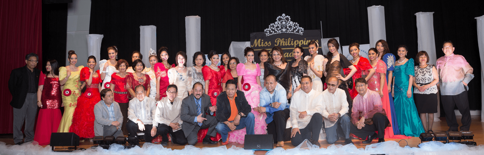 Little Miss Philippines Canada candidates together with Rosemer Enverga and PCCF Officers.