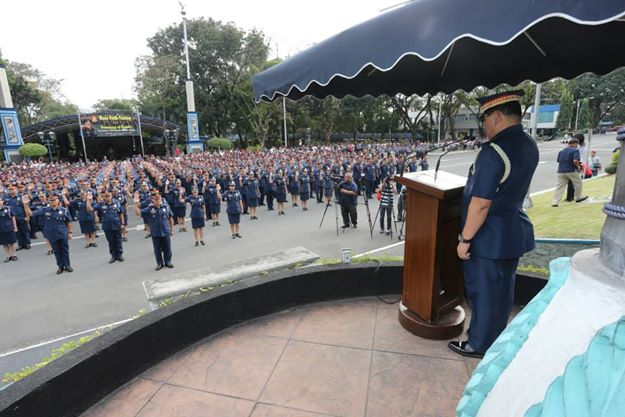 Philippine National Police mass oath-taking. File photo courtesy of PNP on Facebook.