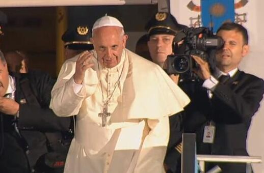 Pope Francis' visit in Israel comes to an end as the pope departs from Ben Gurion Intl. airport. Photo courtesy of Israel's Foreign Ministry - Digital Diplomacy Team / Twitter