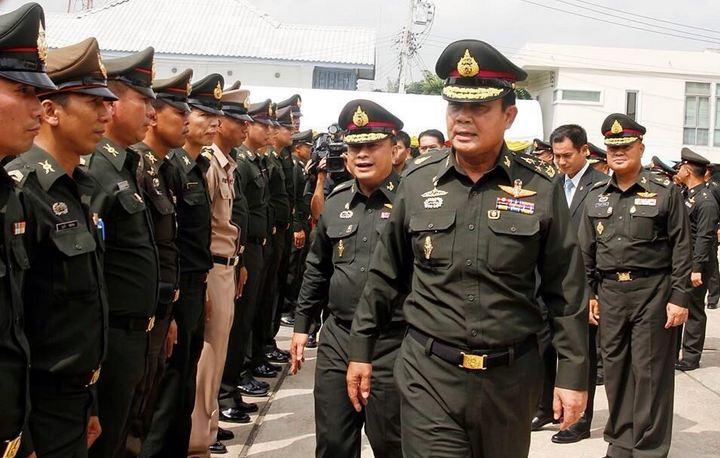 Thailand coup leader Gen. Prayuth Chan-ocha. Photo courtesy of Adrien Bray / Twitter