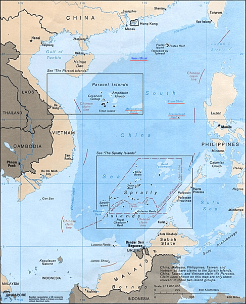 Map showing territorial claims in South China Sea. (Wikipedia photo)