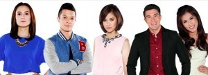 THE VOICE KIDS coaches Lea Salonga, Bamboo, and Sarah Geronimo; and hosts Luis Manzano and Alex Gonzaga