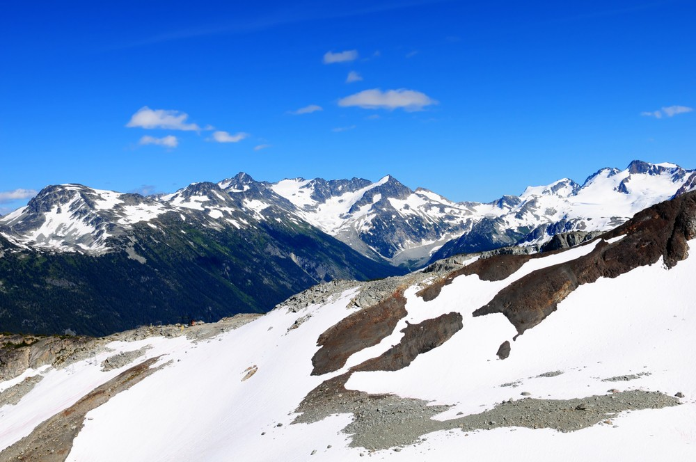 Rocky mountains at Whistler, Canada, home of the 2010 Winter Olympics. ShutterStock image