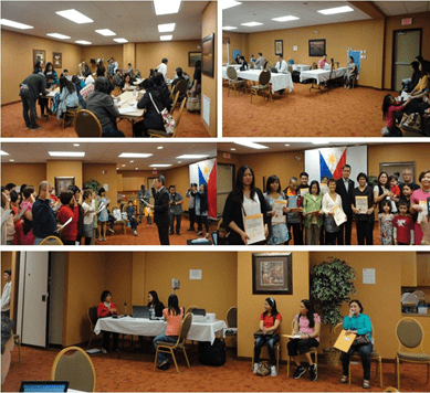 (Photos above) Consular Services; (middle photos) Oath Taking of Dual Citizenship applicants; (Photos below) Overseas Voters Registration