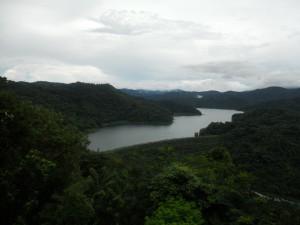 View of Angat Dam from San Lorenzo (Hilltop), Norzagaray, Bulacan.