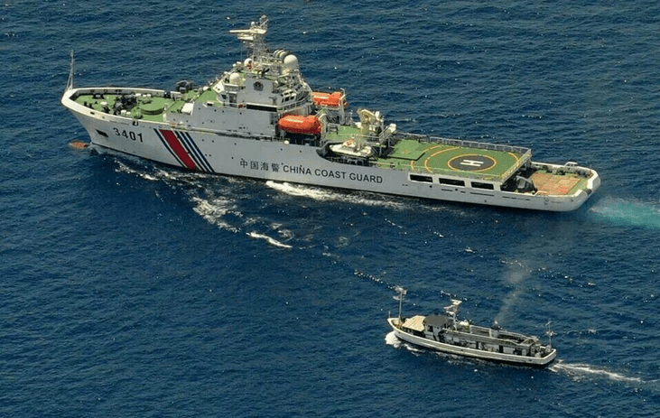 Chinese vessel in Ayungin Shoal (PNP/AFP Photo)