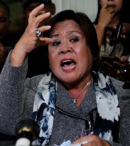Justice Secretary Leila de Lima. Photo courtesy of De Lima's Facebook page.