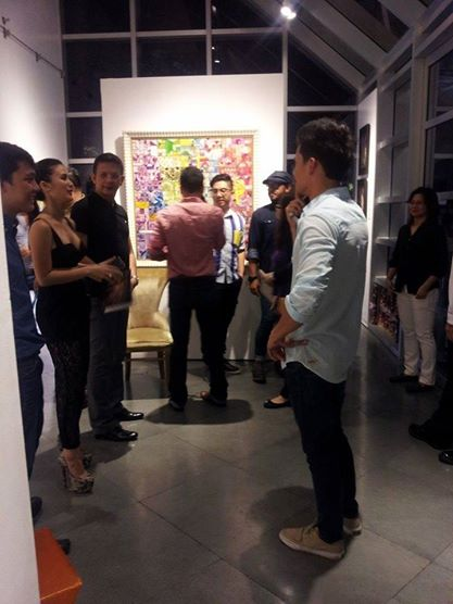 Heart Evangelista with boyfriend Sen. Chiz Escudero during her first solo exhibit. Photo from her Facebook Page.