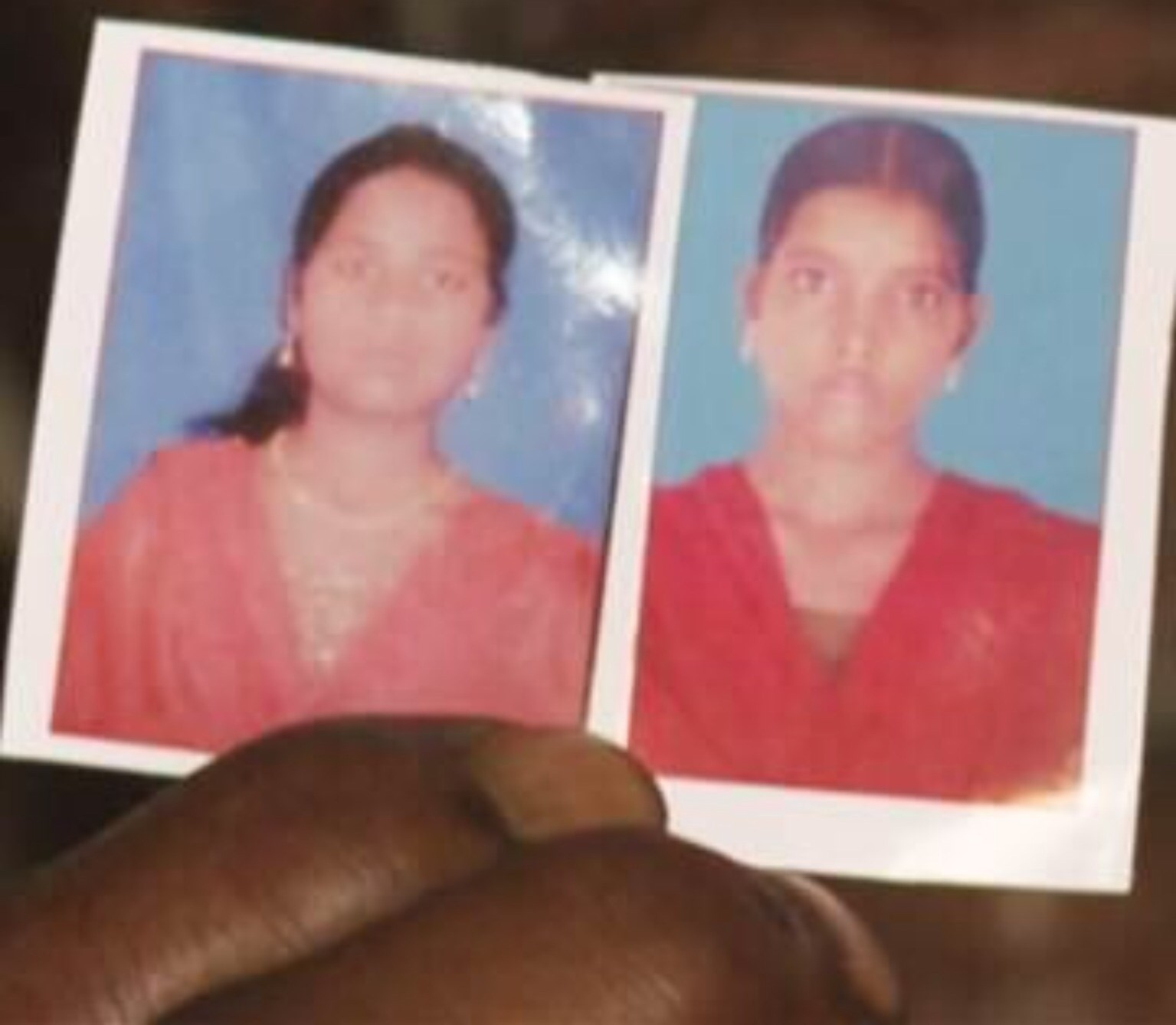 The two victims of gang rape in India. Screenshot from NBC News footage.