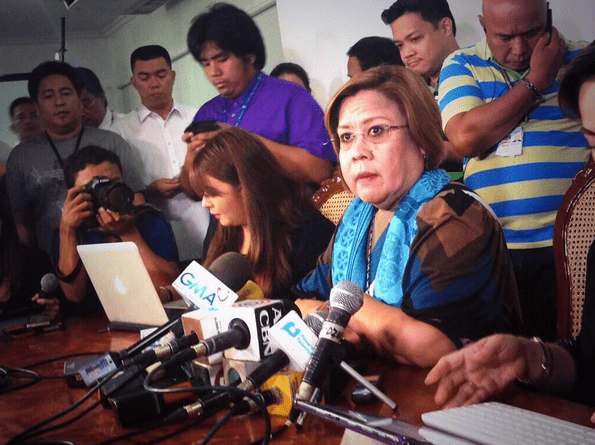 Justice Secretary Leila de Lima. TWITTER PHOTO