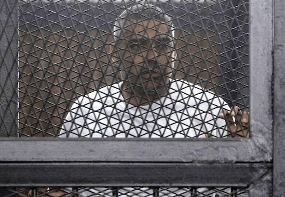 Mohamed Fahmy in prison. Photo courtesy of Fahmy's Twitter account.
