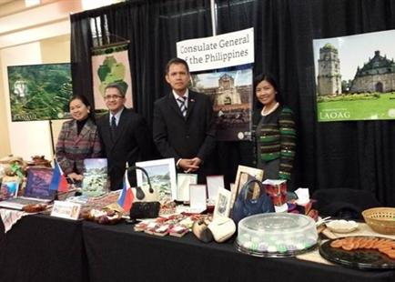 Officials of the Philippine Consulate General Vancouver: from right: Consul Melanie Rita B. Diano, Consul General Neil Frank R. Ferrer, Consul Anthony Achilles L. Mandap, and Ms. Josephine A. Nacisvalencia (Cultural & Information Officer). Photo courtesy of Vancouver PCG