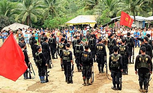 NPA rebel soldiers in Southern Mindanao (Photo: http://www.ndfp.net)