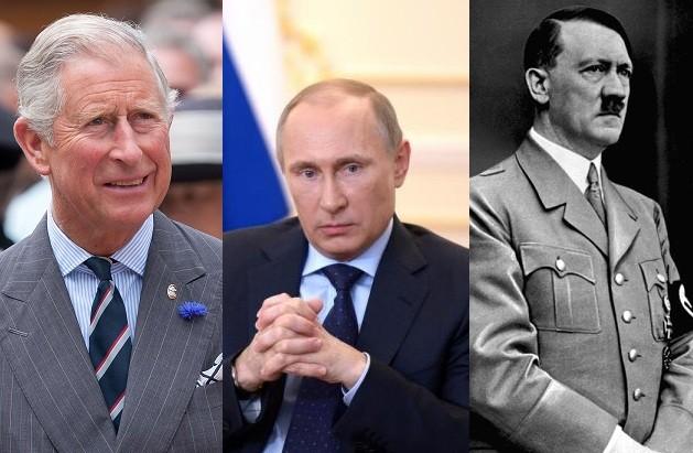 Prince Charles, Vladimir Putin, and Adolf Hitler