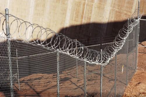 Razor wire fence_US border
