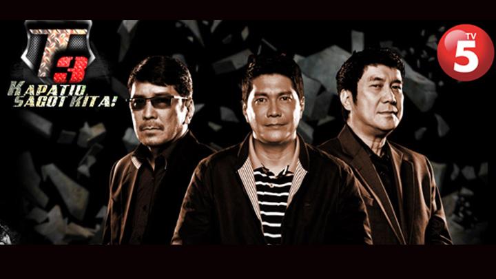 Tulfo brothers. Photo courtesy of TV5 Kapatid network.